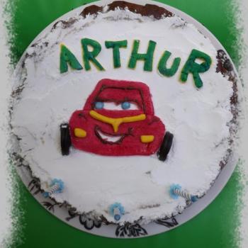 Gateau anniv 3 ans Arthur
