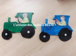 Tracteurs pour les papy's d'Arthur 4 ans -2014-